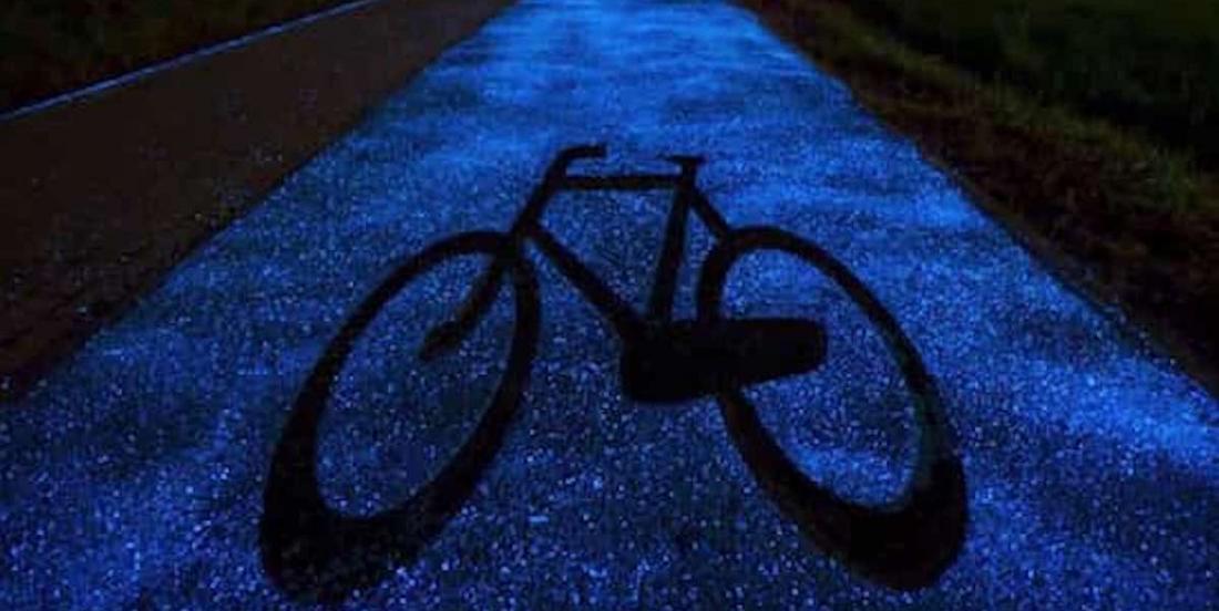 Les pistes cyclables qui s'illuminent dans le noir: une idée qui fait son chemin!