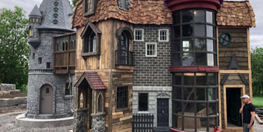 Ces grands-parents géniaux ont construit une maison Harry Potter à leur petite-fille