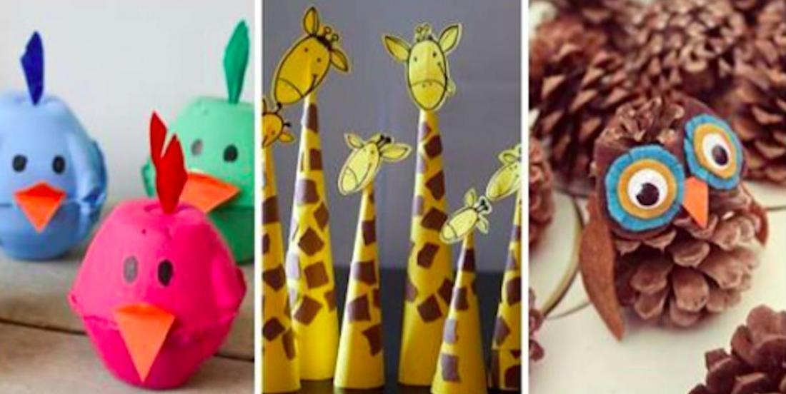 15 bricolages animaiiers à réaliser avec les enfants