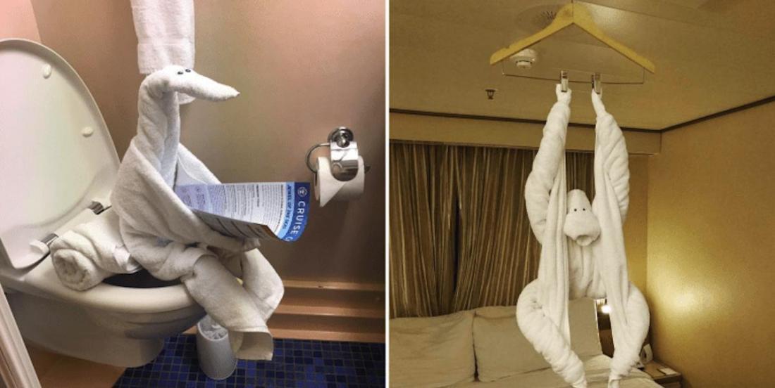 Oubliez les cygnes en serviettes à l'hôtel: en 2020, les femmes de ménage font preuve de plus d'originalité!