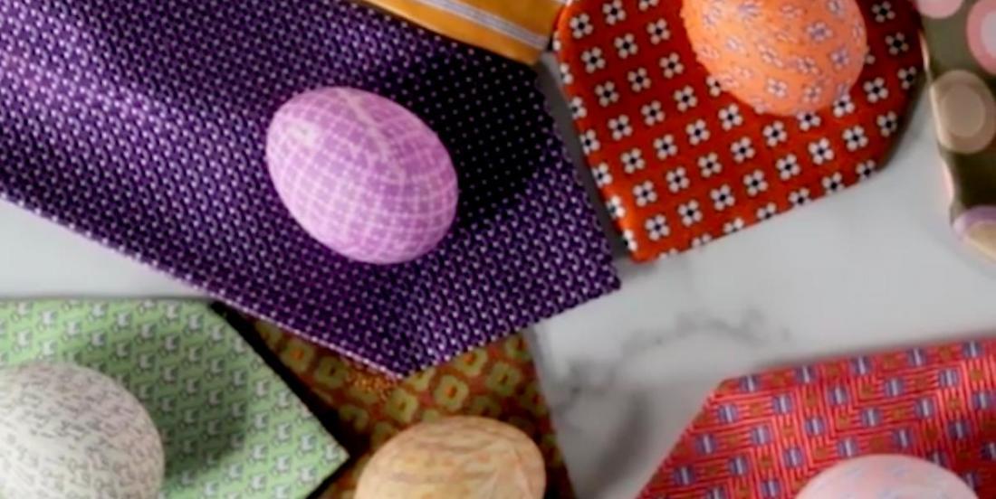 Comment décorer des oeufs de Pâques avec de vieilles cravates