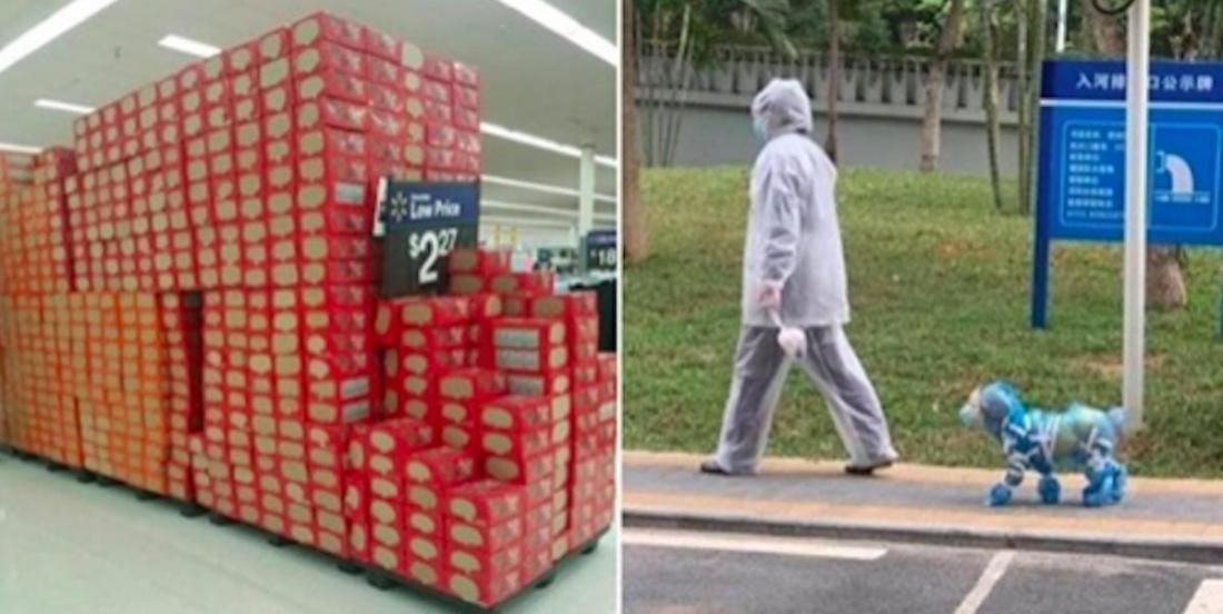 14 photos qui montrent que la paranoïa envers le COVID-19 rend certaines personnes très créatives!
