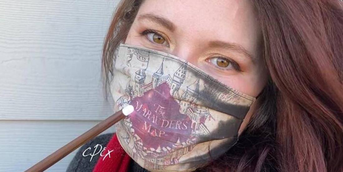 Cette femme crée des masques Harry Potter, qui se transforment quand on expire!