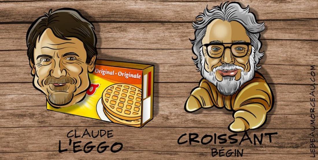 Des chandails humoristiques mettant en vedette des artistes québécois pour promouvoir l'alimentation locale
