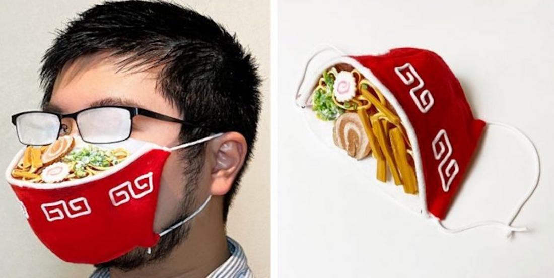 Il crée un masque en bol de rāmen… qui embue les lunettes