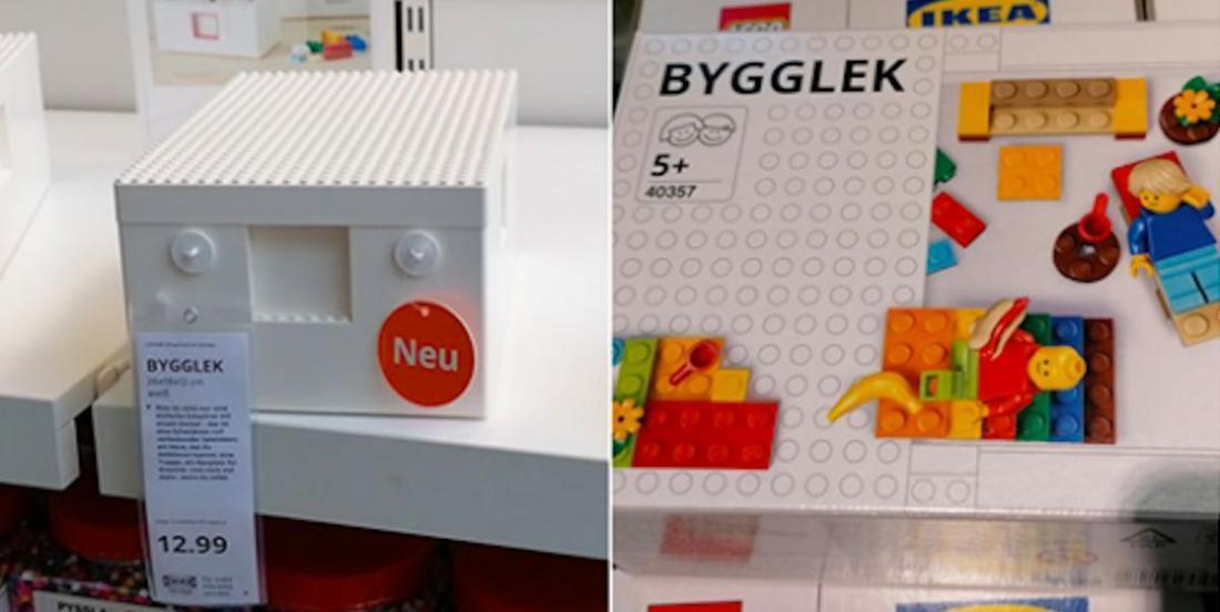 IKEA et LEGO s'associent pour offrir aux adeptes des petites briques, des boites de rangement officielles