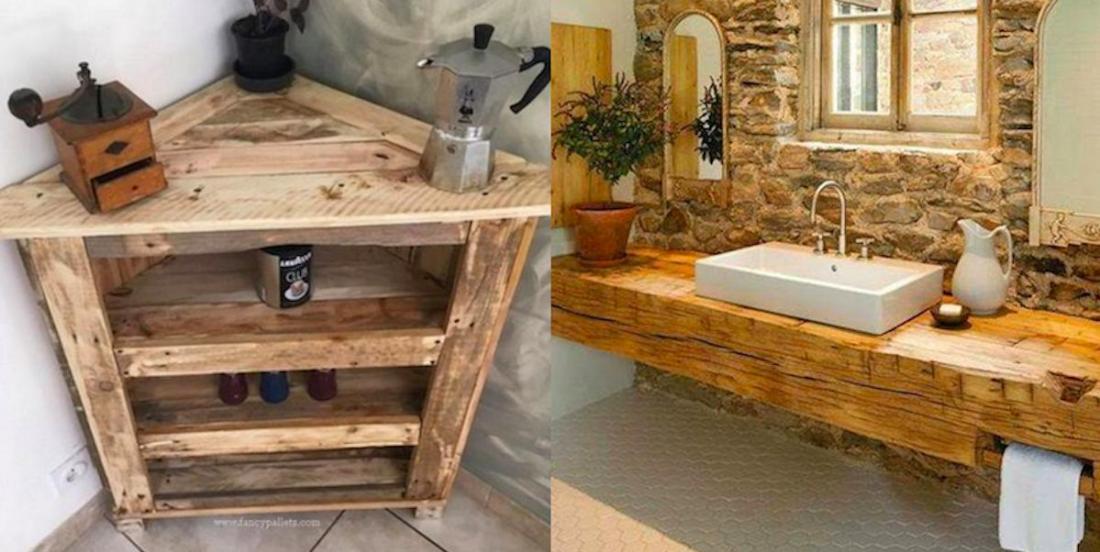 35 idées pour aménager joliment la maison avec du bois récupéré