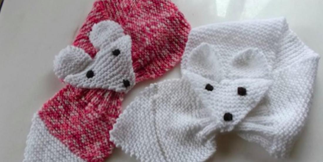 Le temps froid approche! Et si on tricotait un super foulard renard?!