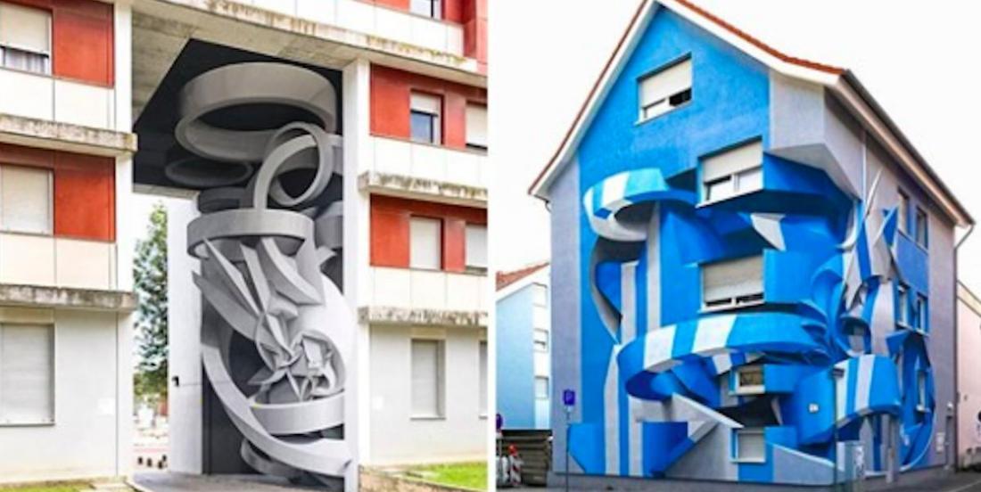 Il peint en 3D sur des bâtiments et les résultats sont hallucinants!
