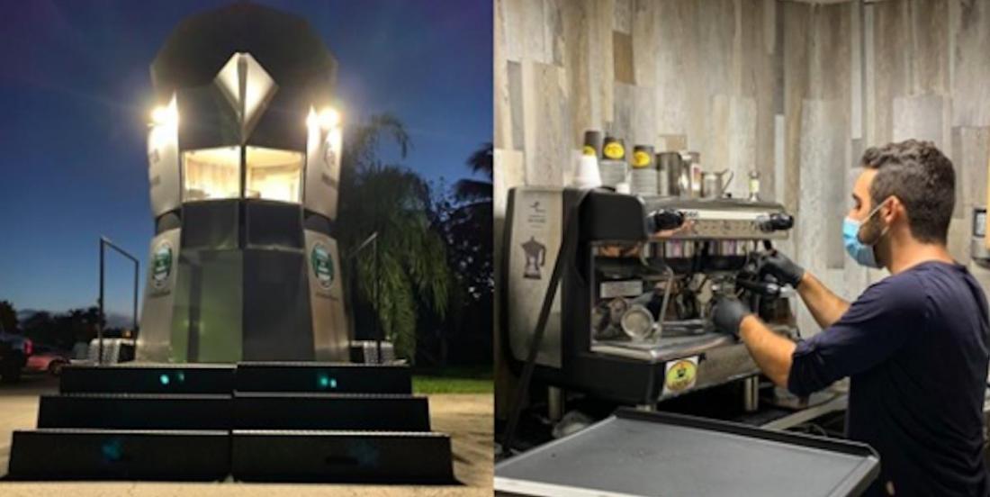Ils inventent une machine à café gigantesque pour apporter du café cubain un peu partout à Miami
