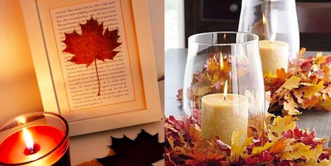 18 décorations DIY à faire avec des feuilles d'automne