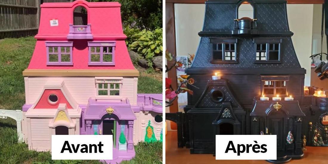 Elle transforme des maisons de poupées en manoirs hantés