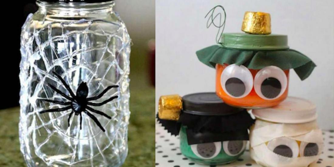 13 décos d'Halloween à réaliser avec des pots de vitre