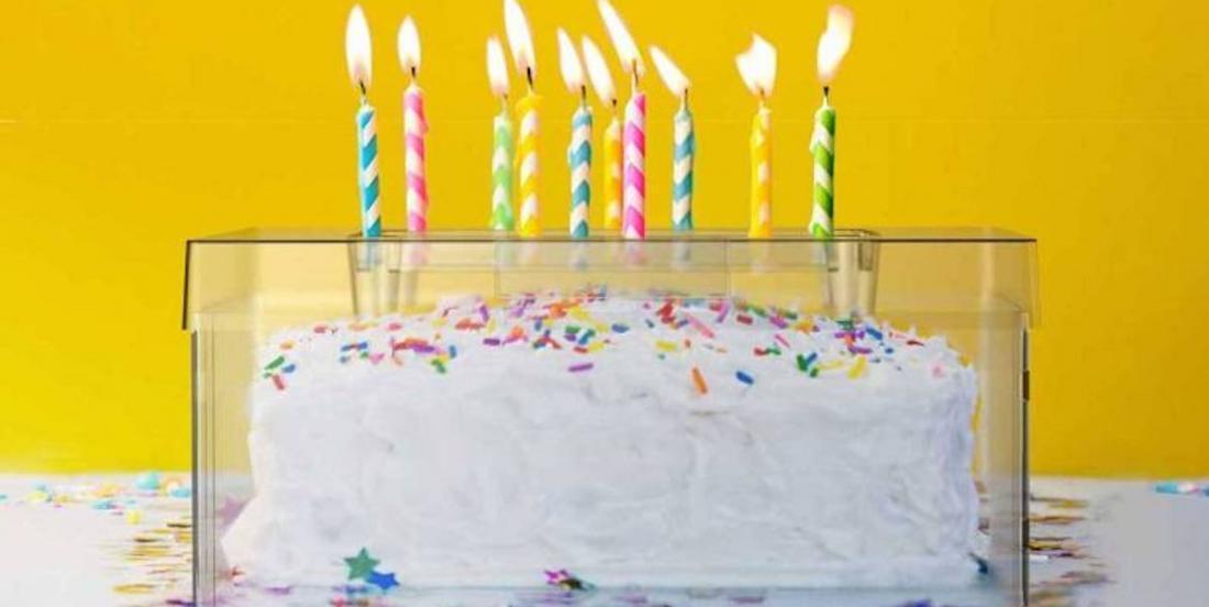 Anniversaire en temps de coronavirus: une boite à gâteau toute particulière!