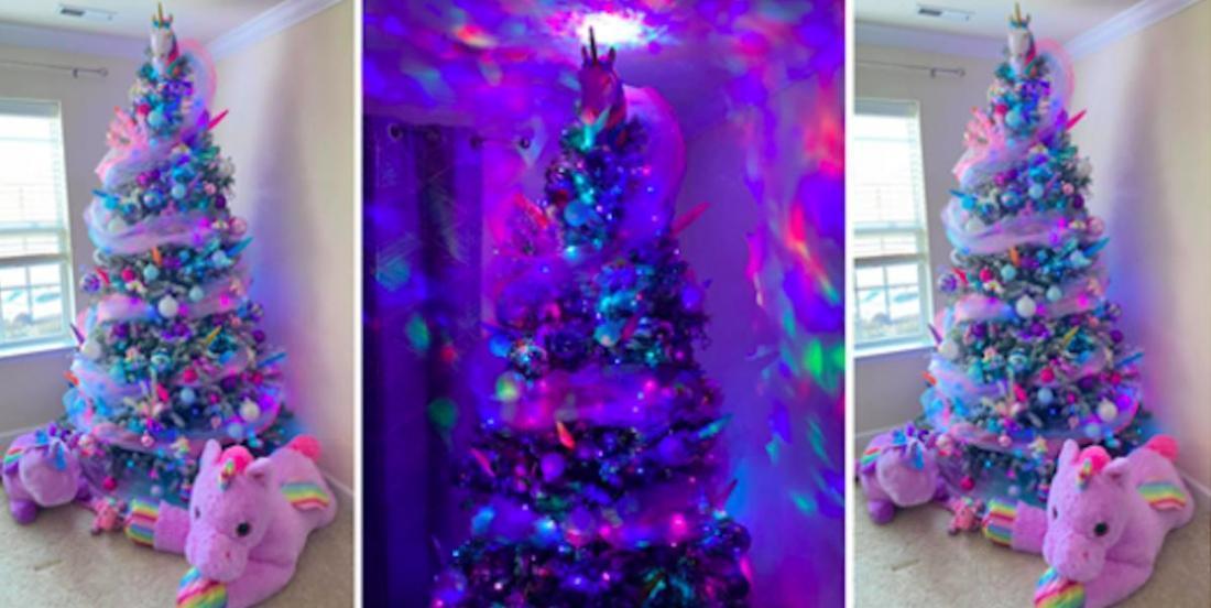 Pour un Noël magique, on crée un sapin licorne!