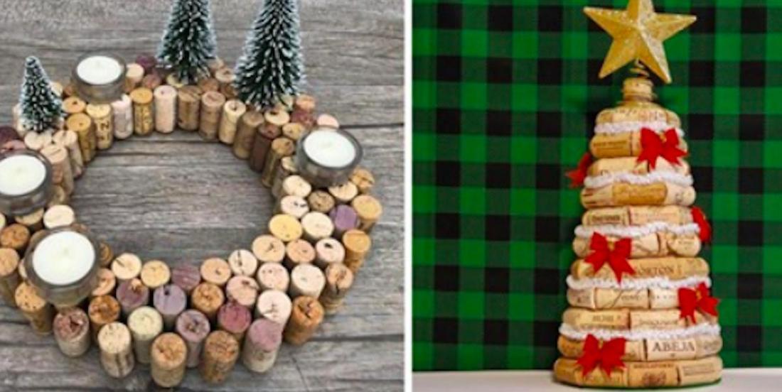 8 décorations de Noël avec des bouchons de liège