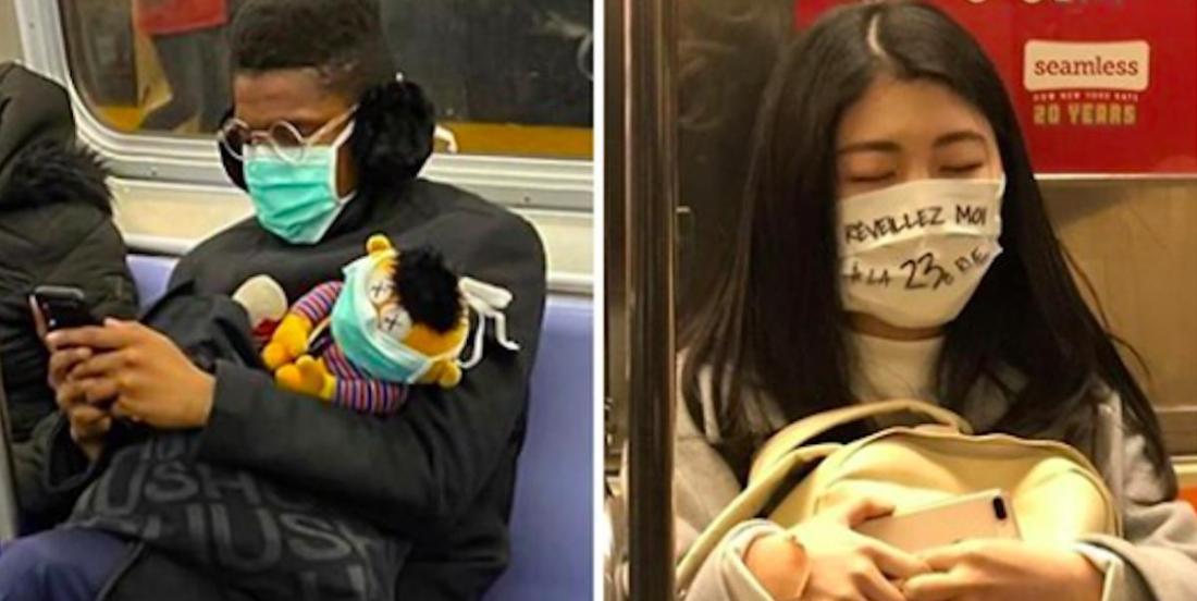22 masques étranges qui ont été vus dans le métro