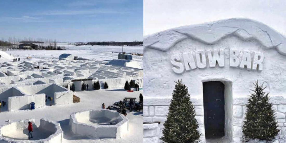 Le plus grand labyrinthe de neige au monde se trouve au Canada