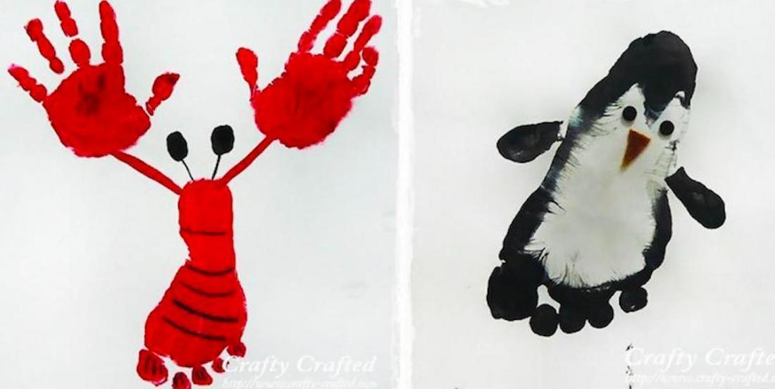 20 inspirations (et +) de peintures en empreintes de pieds ou de mains