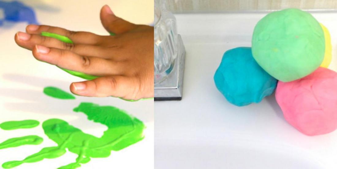 Deux activités créatives pour la relâche: de la peinture naturelle et du savon «pâte à modeler»!