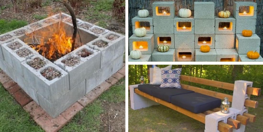 12 super projets réalisés avec de simples blocs de ciment