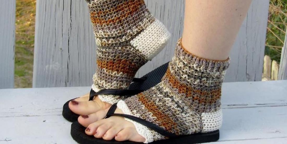 L'article mode étrange du moment: les chaussettes pour tongs!