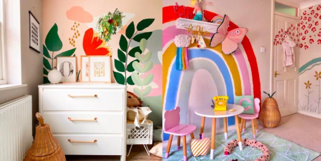 14 façons de décorer une chambre d'enfant facilement, avec de la peinture