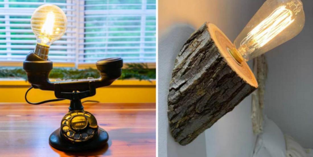 20 idées pour fabriquer une jolie lampe à partir d'objets récupérés