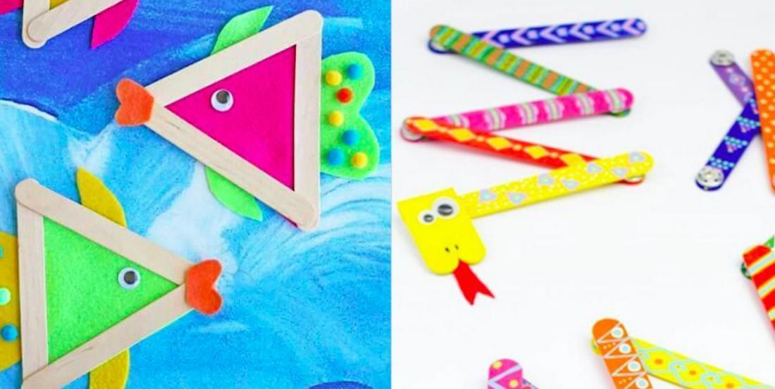 25 inspirations bricolage avec des bâtons de popsicles