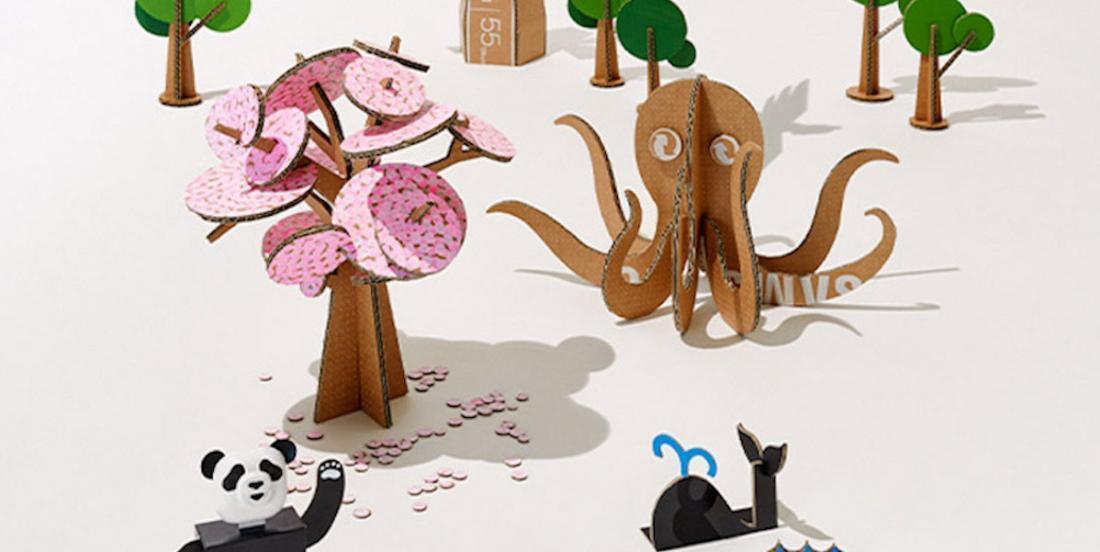 La compagnie Samsung offre des tutoriels pour recycler ses cartons de façon artistique