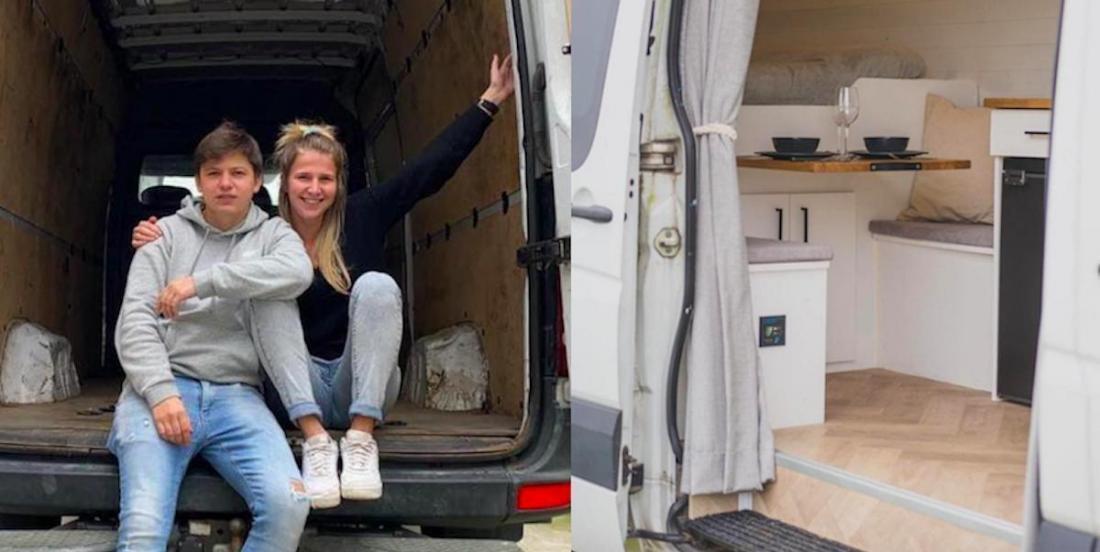 Ce couple voyage de part le monde dans le van qu'il a transformé