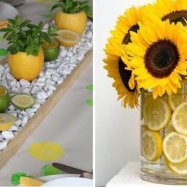 10 magnifiques centre de table favorisant le jaune, pour une déco débordante de fraicheur!