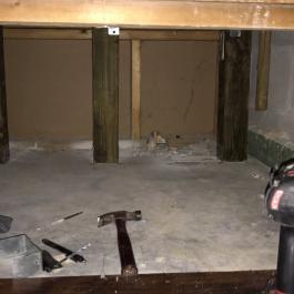 Cet homme fait un trou sous l'escalier de sa maison! Il construit une pièce séparée, juste pour son chien!