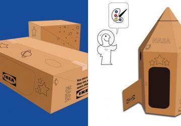 Ikea créé un mode d'emploi pour transformer ses boites de carton en fusée spatiale!