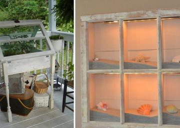 Les vieilles fenêtres ont un charme fou! Transformez-les pour les utiliser autrement! Voyez ces 10 magnifiques idées!