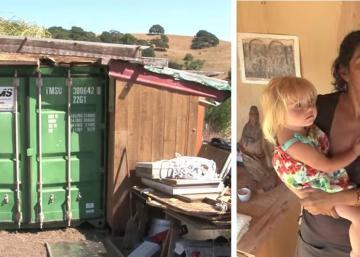 Cette mère monoparentale habite un conteneur, après l'avoir complètement transformé!