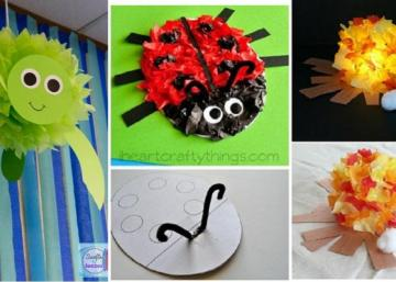 15 super beaux bricolages à faire avec les enfants, à partir de papier de soie!