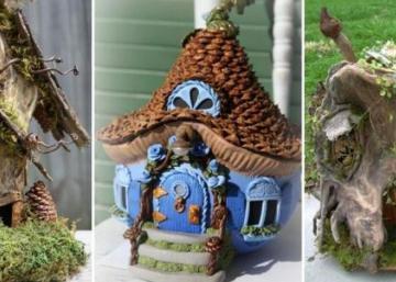 Utilisez des éléments de la nature pour bricoler une maison de fée! De belles idées pour vous inspirer!