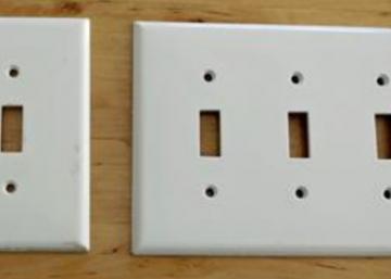 Son idée pour pimper ses plaques d'interrupteur est vraiment brillante! J'ai vraiment envie de faire la même chose!