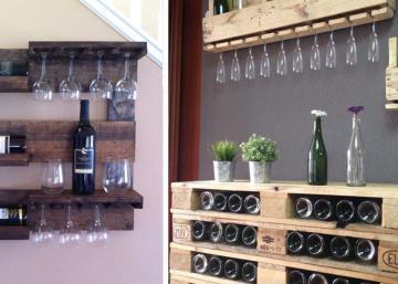 18 idées très créatives pour ranger les bouteilles de vin, en se servant de palettes de bois!