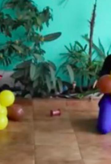 À partir de 4 ballons, elle nous apprend à fabriquer une décoration passe-partout qui ne coûte presque rien!