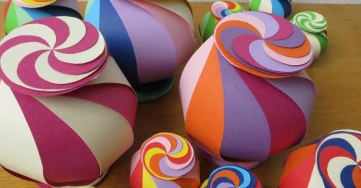 Boules de Noël bonbons! Origami! Patron gratuit et tutoriel vidéo!