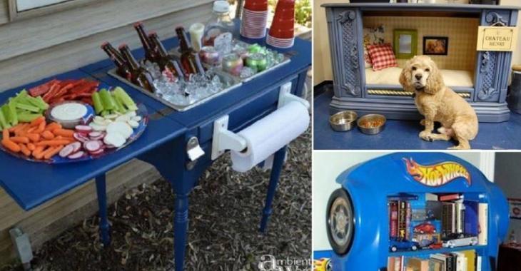 Les 30 meilleures transformations de meubles et d'objets récupérés!
