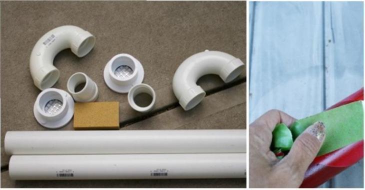 Fabriquez une belle décoration de Noël avec des tuyaux de PVC!