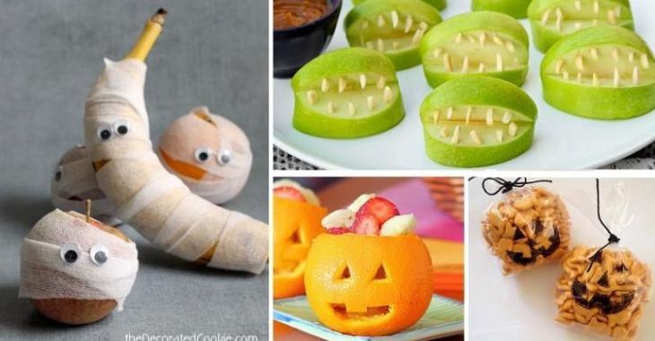 16 petites collations santé pour l'Halloween!