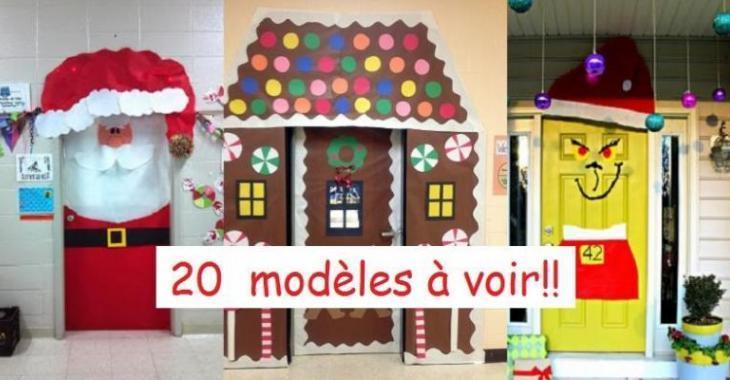 20 modles de dcorations de nol pour les portes - Image De Decoration De Noel