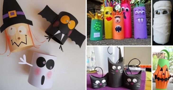 Plus De 30 Bricolages D'Halloween À Faire Avec Des Rouleaux De