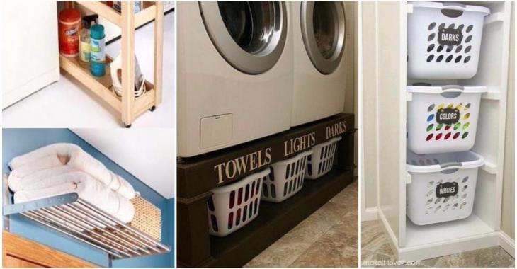 15 astuces ingénieuses pour organiser la salle de lavage pour qu'elle soit vraiment pratique!