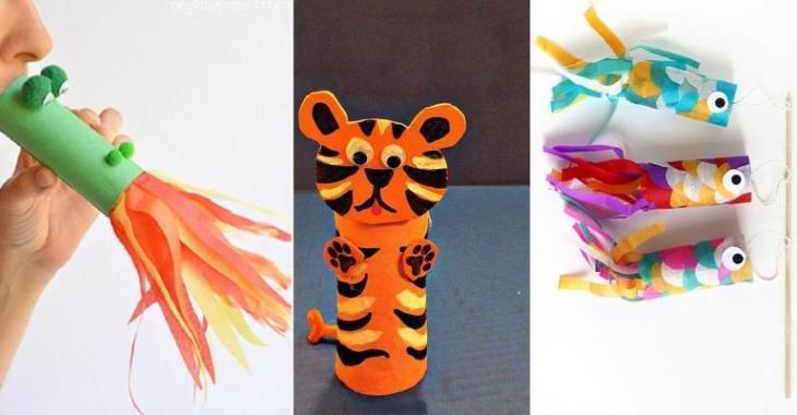 Célèbre 10 Superbes bricolages à faire avec les enfants! Avec des rouleaux  UE94