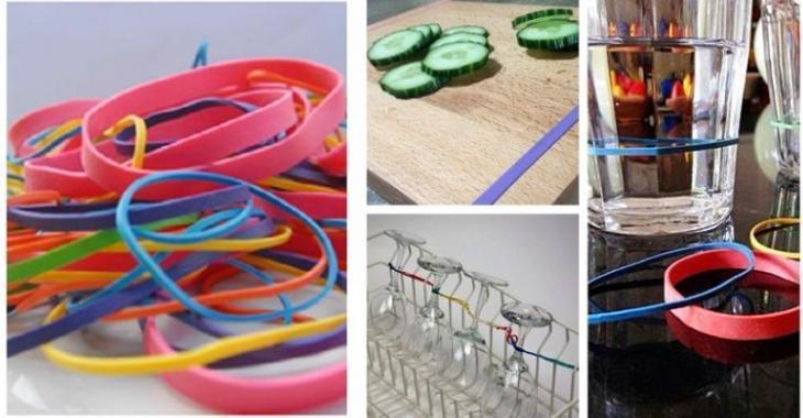 19 façons d'utiliser les élastiques de caoutchouc autrement!